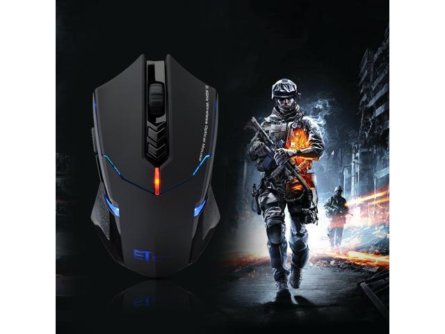 2.4GHz Wireless Gaming Optical Mouse With Adjustable 500/1000/1500/2000 DPI Support Surface for PC Mac Notebook