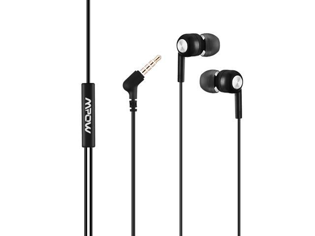 Mpow In-ear Headphones Earphones Headset for Music Running Travel with In-line Mic Black