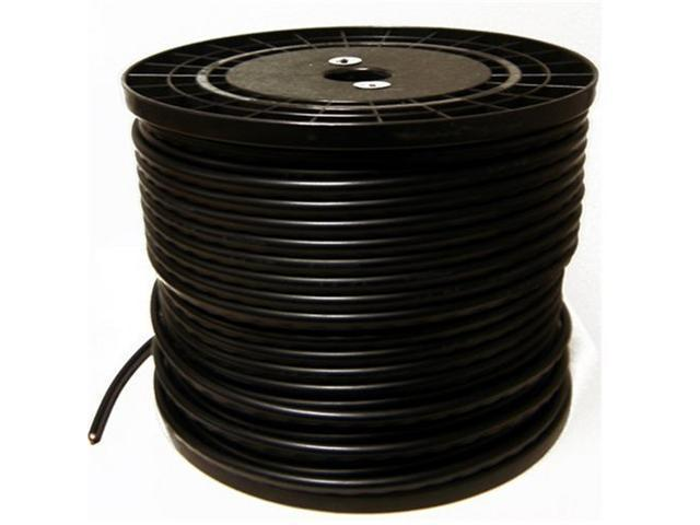 HQ-Cam 500FT BLACK RG59 Siamese Video & Power Coax Cable, 95% Braid & UL Listed