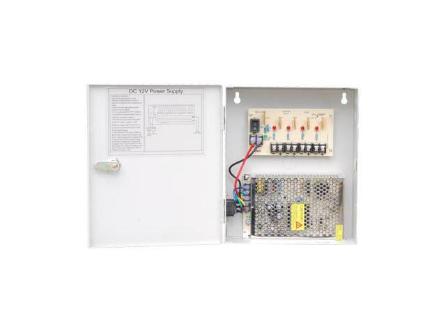 HQ-Cam CCTV Security Surveillance Power Box, 12V DC, 4-Channel, 5A