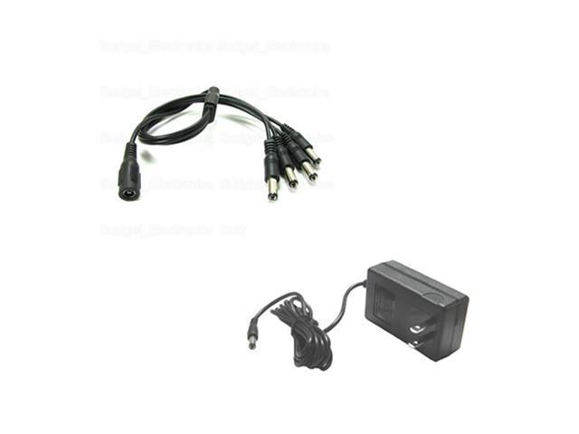 HQ-Cam CCTV Security Surveillance 4 Ports 12V 2A DC Power Adapter for Security Cameras