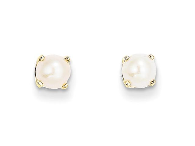 14k Yellow Gold 5mm June/Cultured Pearl Earrings