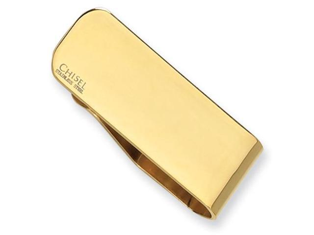 Stainless Steel Gold-Plated Engravable Money Clip