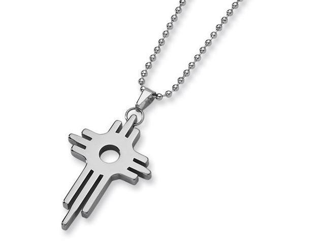 Tungsten Cross Necklace (22in long)