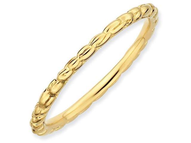 Stunning Silver Stackable 18k Gold-Plated Twisted Ring