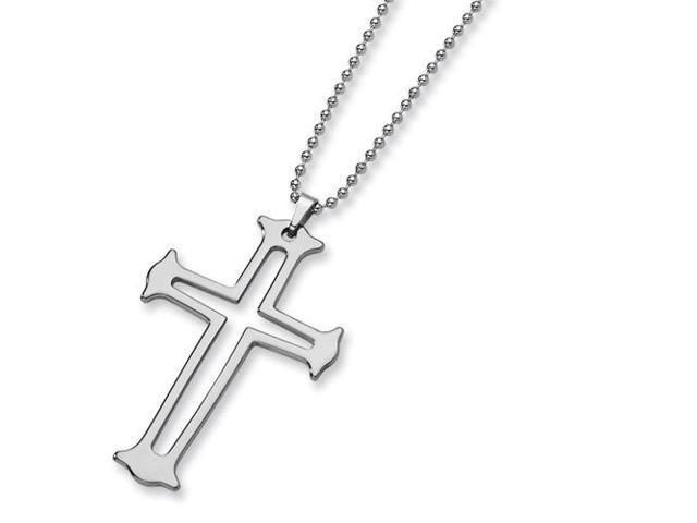 Tungsten Cross Necklace (24in long)
