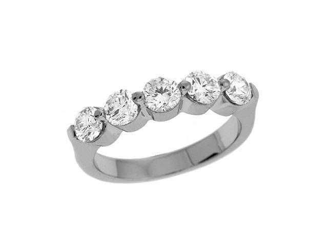 14K White Gold 1.5cttw Round Diamond Ring Band
