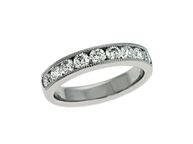 14K White Gold 1.01cttw Round Diamond Ring Band