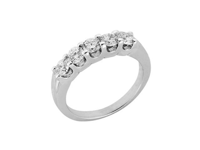 14K White Gold 1cttw Round Diamond Ring Band