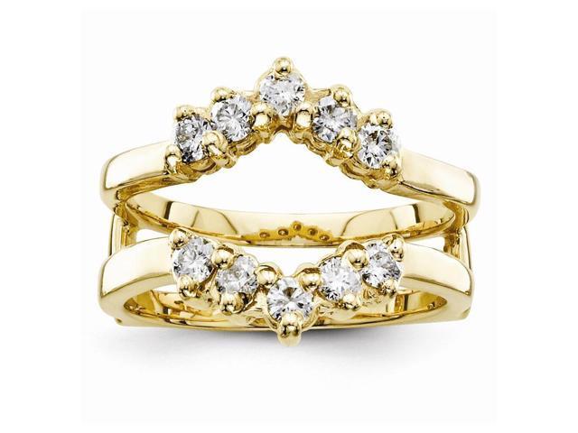 14k Yellow Gold Fine Diamond guard (Color H-I, Clarity SI2-I1)