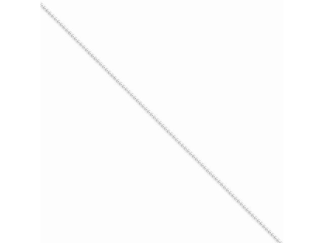 Sterling Silver 16in 1.25mm Beaded Necklace Chain