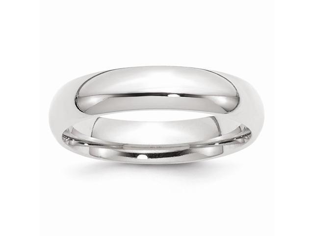 14k White Gold Engravable 5mm Comfort-Fit Band