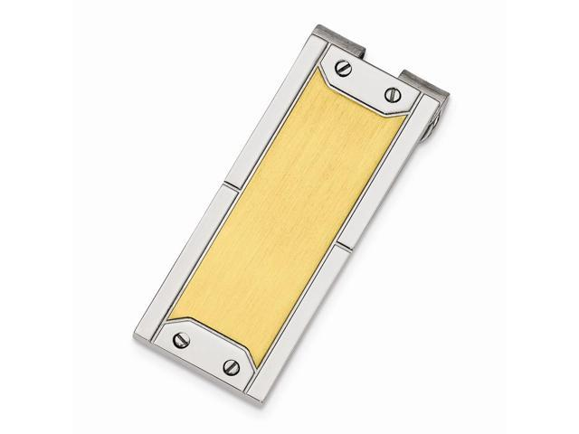 Stainless Steel 24k Gold-plating Engravable Money Clip