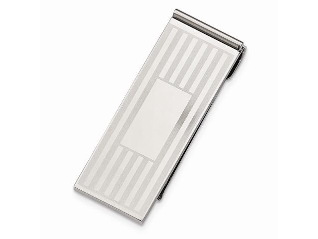 Stainless Steel Polished Engravable Money Clip