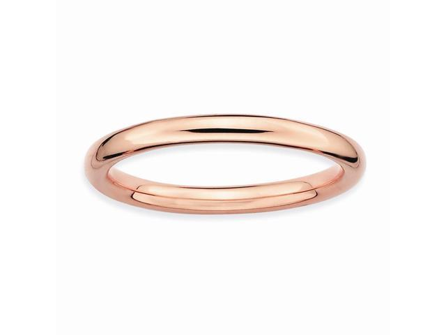 Love Festive Sterling SIlver Stackable 18k Rose Gold-Plated Ring Band