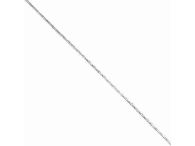Sterling 20in Silver 1.25mm D/C Round Franco Necklace Chain