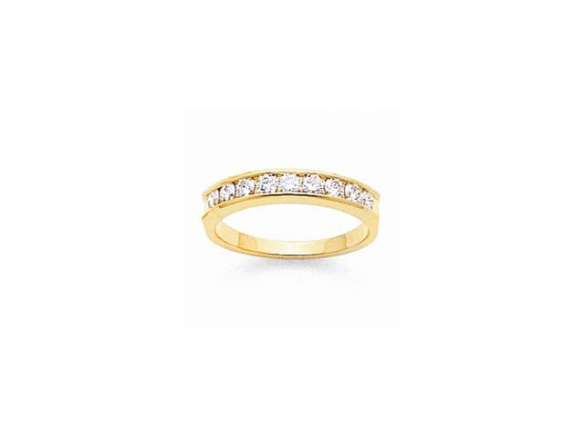 14k Yellow Gold Fine Diamond Channel Band (Color H-I, Clarity SI2-I1)