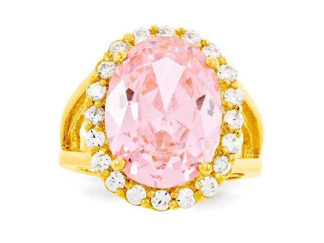 24k Gold-Plated Vermeil Simulated Kunzite Ring
