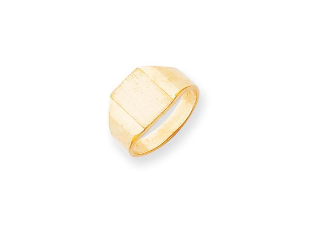 14k Yellow Gold Engravable Signet Ring (9.7mm x 7.6mm face)