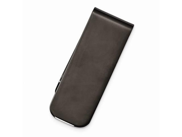 Stainless Steel Black Plated Engravable Money Clip