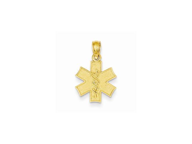14k Yellow Gold Medical Jewelry Symbol Pendant - Newegg.com