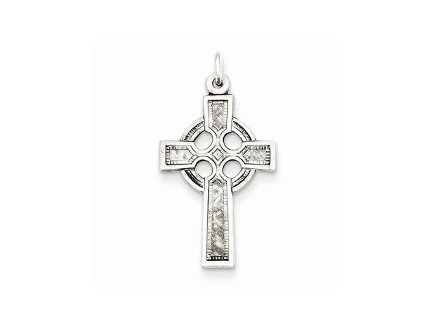 Sterling Silver Celtic Cross Charm. (1.1IN long x 0.6IN wide)
