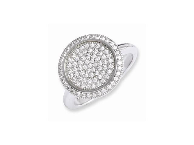 Sterling Silver & Synthetic CZ Embers Circle Ring