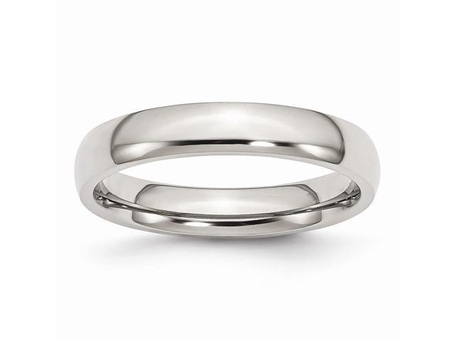 Stainless Steel 4mm Engravable Polished Band