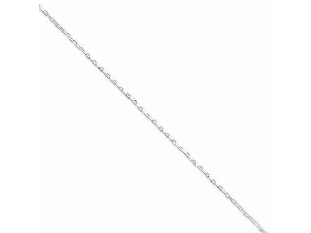 Sterling Silver 16in 1.3mm Elongated Box Necklace Chain