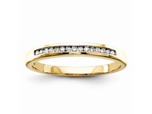 14k Yellow Gold Diamond wedding Band (Color I-J, Clarity I1-I2)