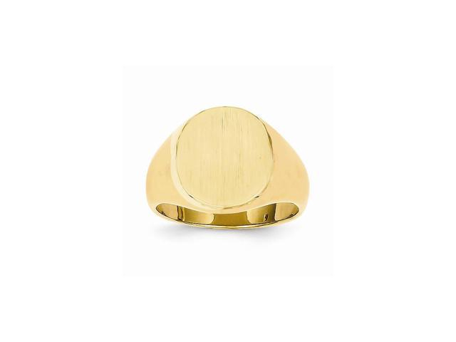 14k Yellow Gold Engravable Men's Signet Ring (15.4mm x 13.4mm face)