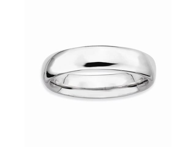 Phenomenally Classic 925 Sterling Silver Stackable Rhodium Plated Ring