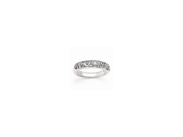 14k White Gold Fine Diamond wedding Band (Color H-I, Clarity SI2-I1)