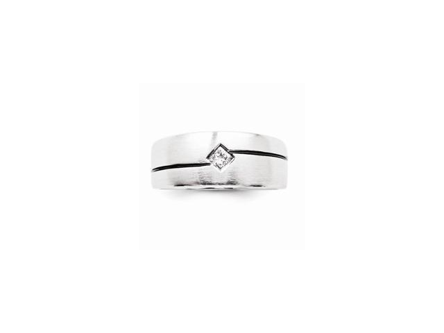 14k White Gold Diamond Men's Ring (Color H-I, Clarity SI2-I1)