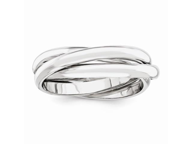 14k White Gold Polished Rolling Ring