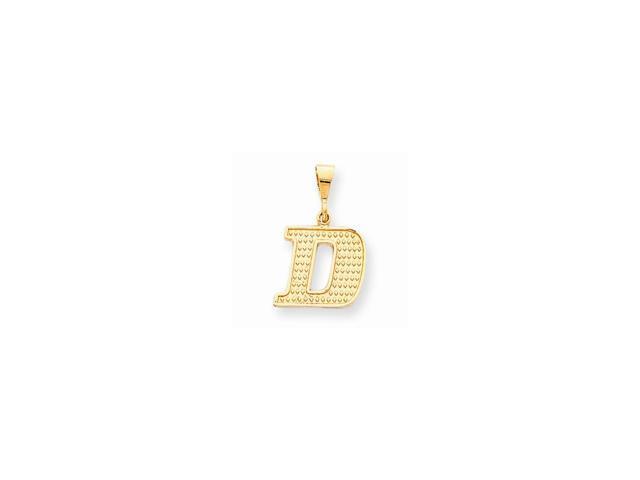 10k Yellow Gold Raised Edge Initial D Pendant