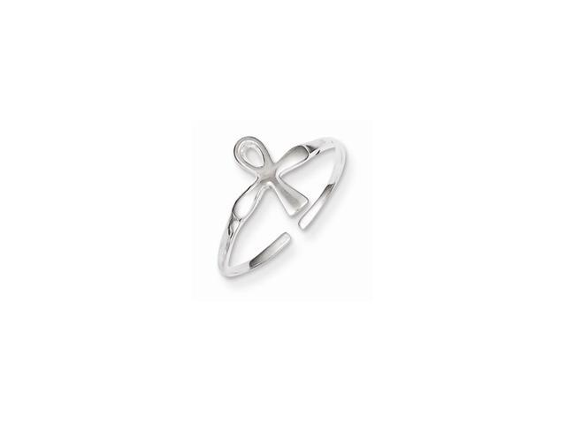 Sterling Silver Ankh (Egyptian Cross) Toe Ring