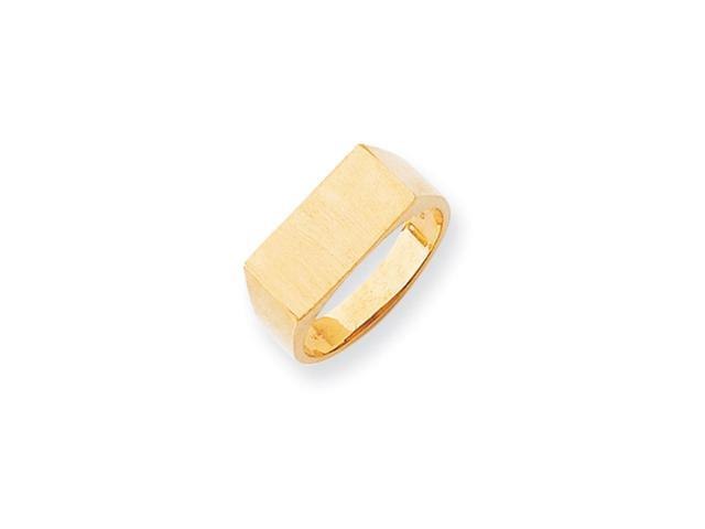 14k Yellow Gold Engravable Men's Signet Ring (8mm x 16.7mm face)