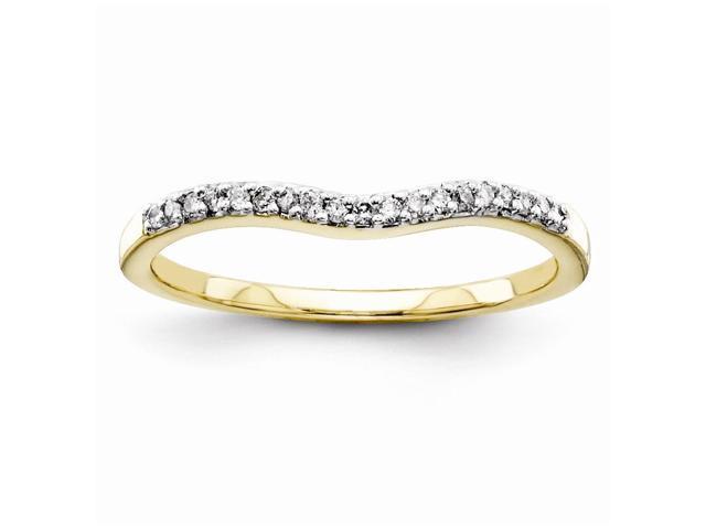 14k Yellow Gold Diamond Wedding Band (Color H-I, Clarity SI2-I1)
