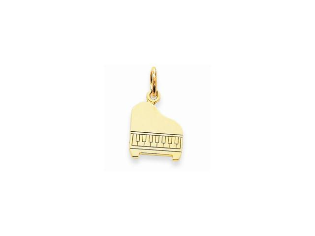14k Yellow Gold Musical Series Piano Pendant
