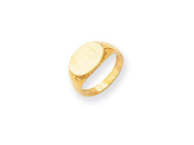 14k Yellow Gold Engravable Signet Ring (8.5mm x 10.8mm face)