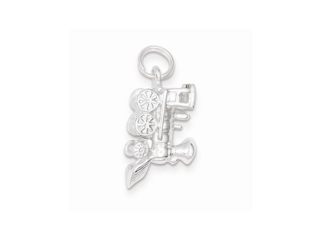 Sterling Silver Train Engine Charm (0.5IN long x 0.8IN wide)