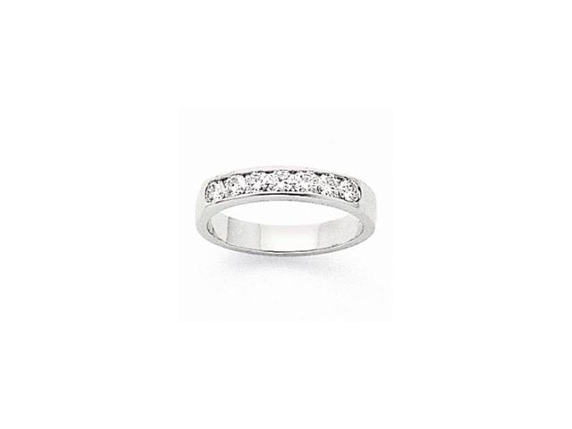 14k White Gold Fine Diamond Channel Band (Color H-I, Clarity SI2-I1)