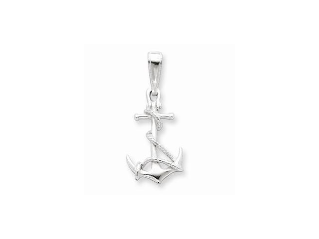 Sterling Silver Anchor & Rope Pendant