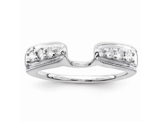 14k White Gold Diamond Ring Wrap (Color H-I, Clarity SI2-I1)