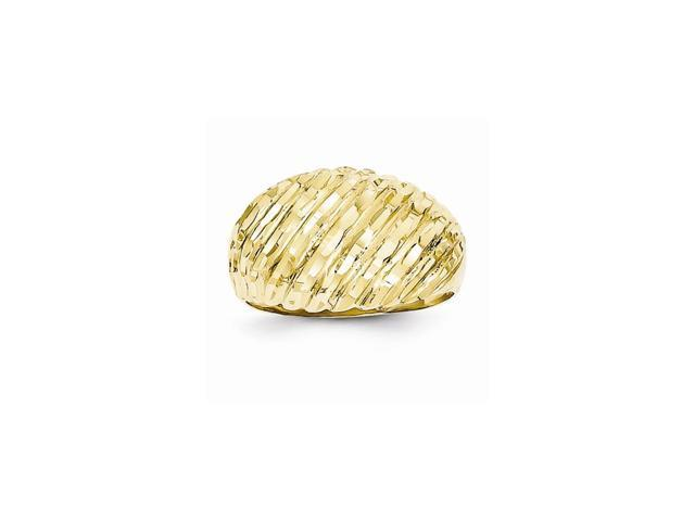 14k Yellow Gold D/C Domed Ring