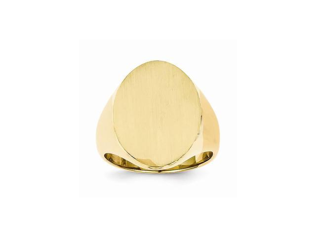 14k Yellow Gold Engravable Men's Signet Ring (18.6mm x 14.3mm face)