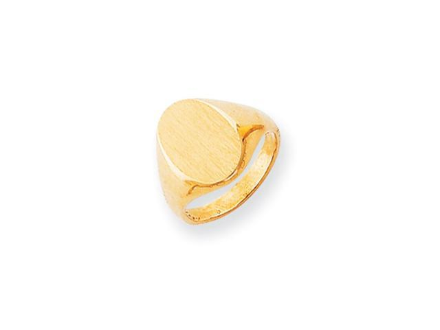 14k Yellow Gold Engravable Signet Ring (12.8mm x 9.1mm face)