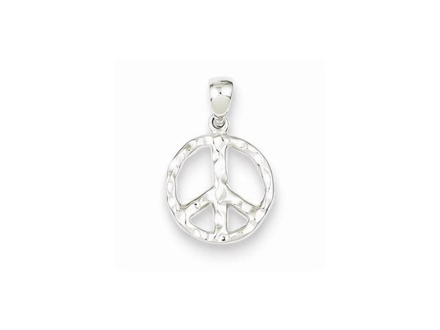 Sterling Silver Rhodium Plated Peace Pendant