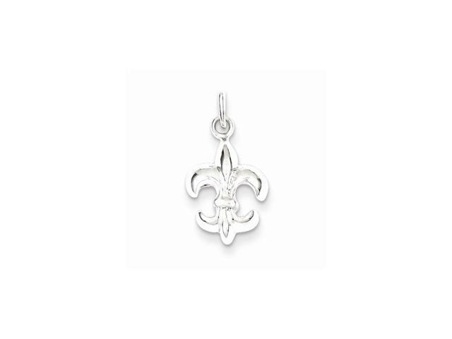Sterling Silver Small Fleur De Lis Pendant